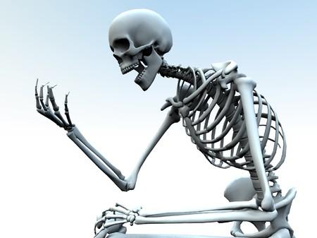 자체 뼈 손을보고 해골. 스톡 콘텐츠