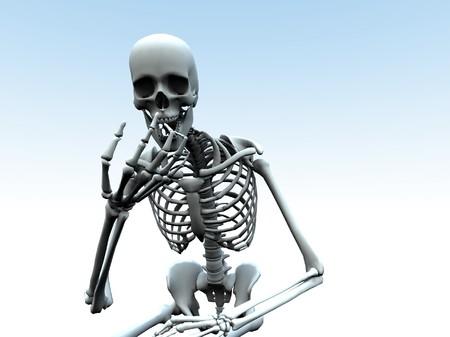 beenderige: Een skelet zoeken aan de hand van zijn eigen bot.