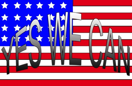 yes we can: Yes We Can With USA Flag
