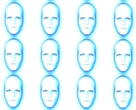 Identical faces for conformity concepts.