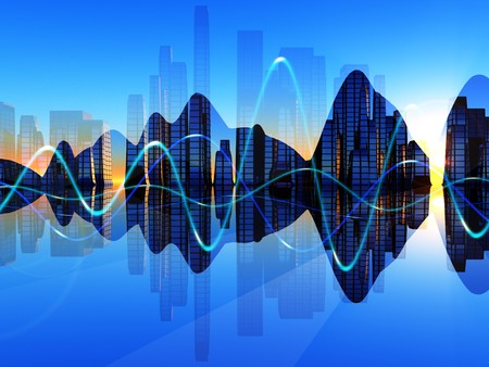 A mix of soundwaves representations for music concepts. Stock Photo - 4297575