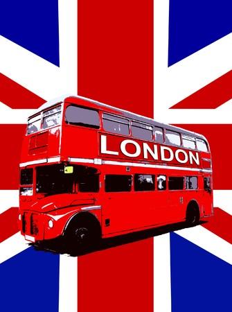 bus anglais: Concept de l'image d'une Londres Routemaster Bus.