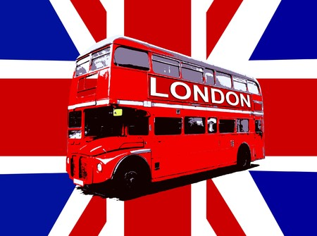 nostalgic: Concept image of a London Routemaster Bus. Stock Photo