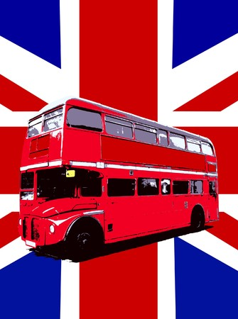 brit: Concept image of a London Routemaster Bus. Stock Photo