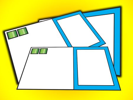 customisable: Blank customisable business cards.