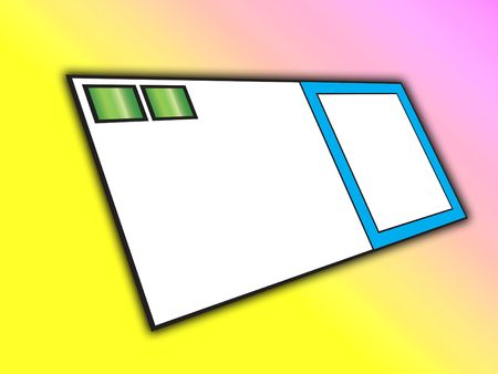 customisable: Blank business card with customisable space.