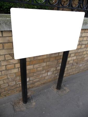 customisable: Blank customisable sign in the street.