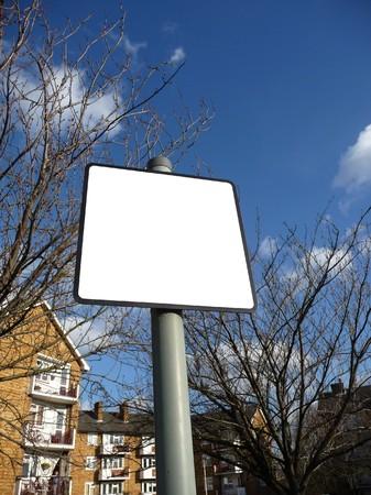 customisable: A blank customisable street sign.