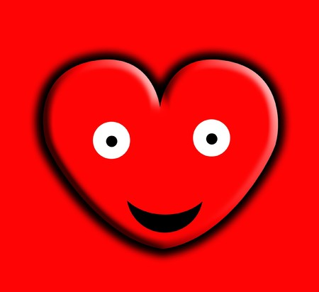 Concept image of a happy heart.