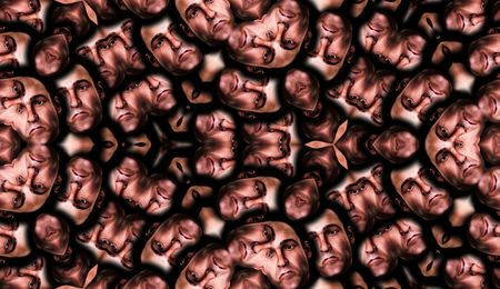 Seamless Male Faces Backgrounds  photo