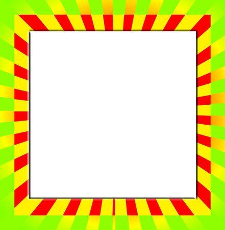 customisable: Blank customisable space with colour frame.