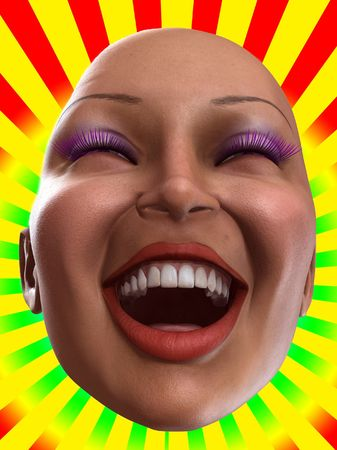 Conceptual image of a bald, but happy women. Stock Photo - 4740557
