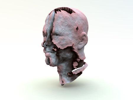 얼굴을 껍질을 벗기는 피부의 이미지.