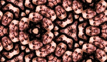 cheerless: Seamless Male Faces Backgrounds Stock Photo