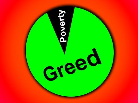 representational: Greed And Poverty Stock Photo