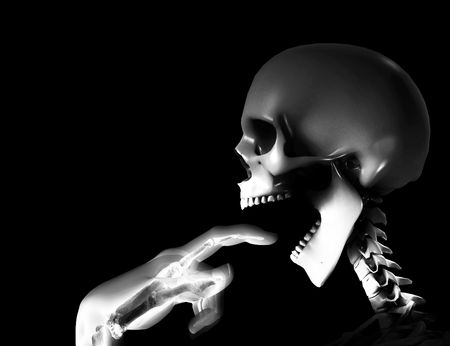 ghostlike: Skeleton indicating that it is hungry.