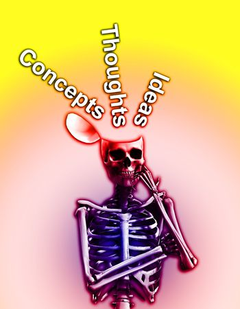 ribcage: A skeleton that is deep in thought.