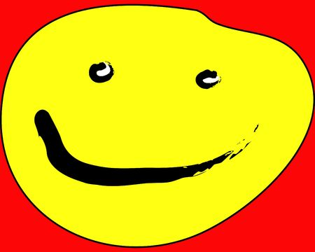 exultant: Concept image of a yellow smiley face.