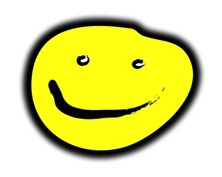 contended: Concept image of a yellow smiley face.