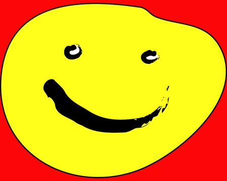 Concept image of a yellow smiley face.
