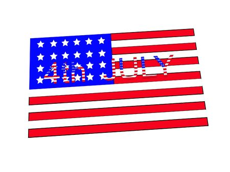 spangled: Image for July the 4th American independence day.