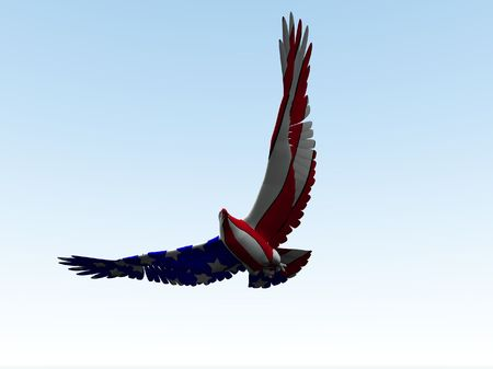 predictor: Concept image of an American eagle with the American flag would be good for July 4th.