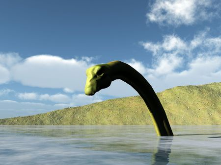 Image of the Scottish Loch Ness monster. photo