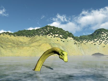 Image of the Scottish Loch Ness monster. Standard-Bild