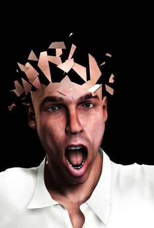 Concept image of a man mind shuttering. Stock Photo - 5221203