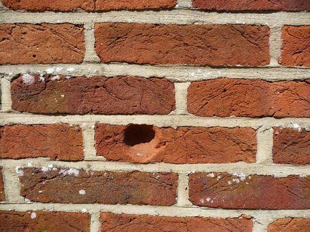 Einbuchtung: Textur Hintergrund einer Einr�ckung auf einer Mauer.