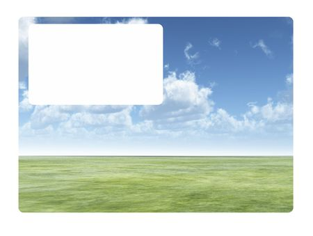 customisable: A business card with a blank customisable space. Stock Photo