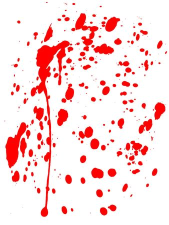 A blood splatter on white background would be good for Halloween or medical concepts. photo