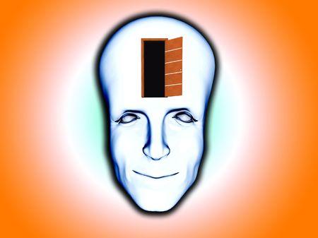 perceptive: Image Concept di essere di mentalit� aperta.