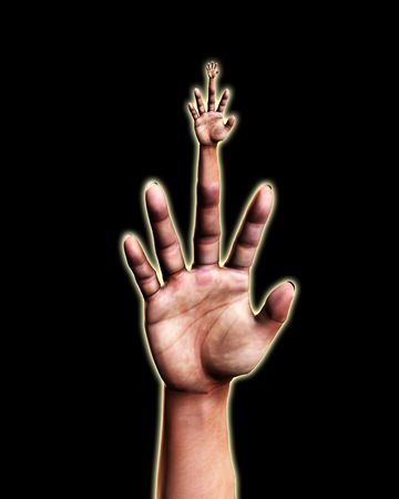 Abstract image featuring a very surreal hand. Stock Photo - 5410684