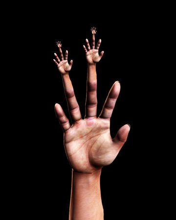 Abstract image featuring a very surreal hand. Stock Photo - 5410688