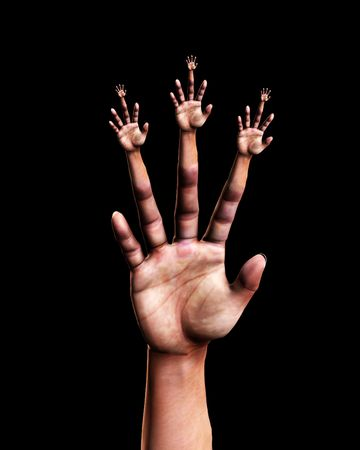 Abstract image featuring a very surreal hand. Stock Photo - 5410687