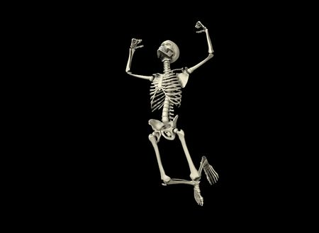ribcage: An active skeleton that is jumping around.