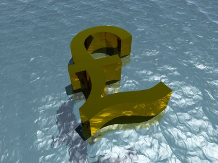 brit: A pound that is made out of gold for money concepts. Stock Photo