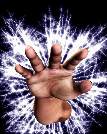 Concept image of a hand that is full of power an energy. Stock Photo - 5597445