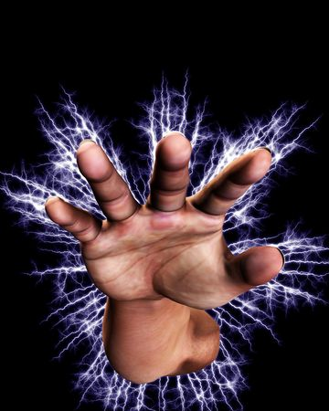 Concept image of a hand that is full of power an energy. Stock Photo - 5597454