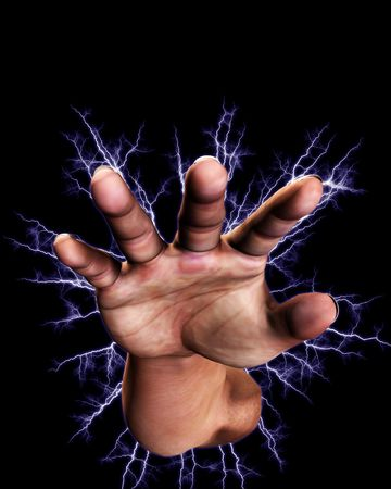 Concept image of a hand that is full of power an energy. Stock Photo - 5597443