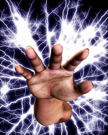 Concept image of a hand that is full of power an energy. Stock Photo - 5597436