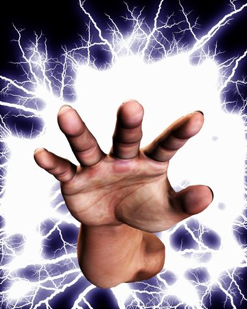 Concept image of a hand that is full of power an energy. Stock Photo - 5597450