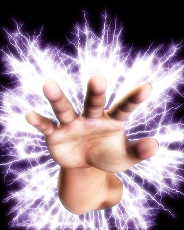 Concept image of a hand that is full of power an energy. Stock Photo - 5597442