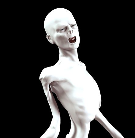 Image of a think screaming Zombie for Halloween.