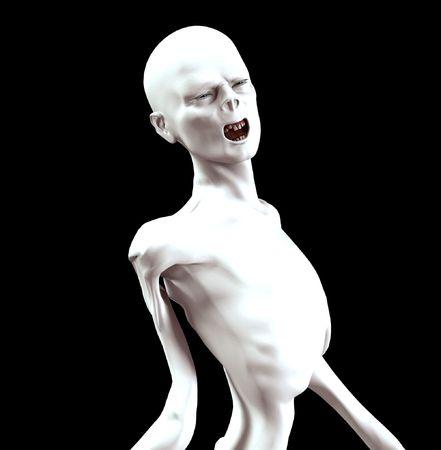 creepy monster: L'immagine di un think urla zombie per Halloween.