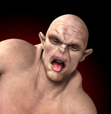 ogre: A horrible Ogre for the Halloween period.