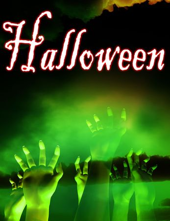 Some creepy zombie hands for the Halloween period. Stock Photo - 5726538