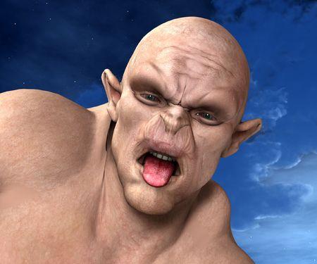 bald ugly: Ogre