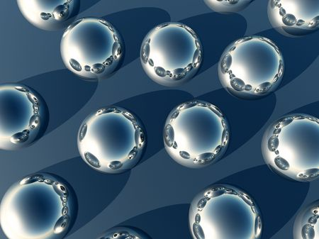 mirrored: An abstract background made out of mirrored half spheres.